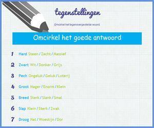 Taalsite.nl Diverse taal, spelling en woordenschatoefeningen. Site is nog in ontwikkeling. Maar kan al gebruikt worden.