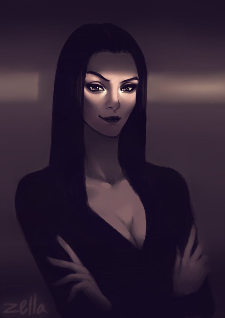 Morticia Addams by ZellaRoss