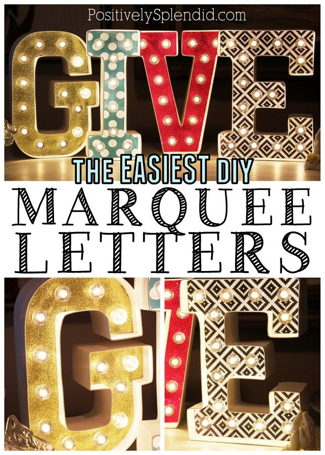 The EASIEST way to make DIY marquee letters! So excited to start on this project. Love fabulous marquee letters!