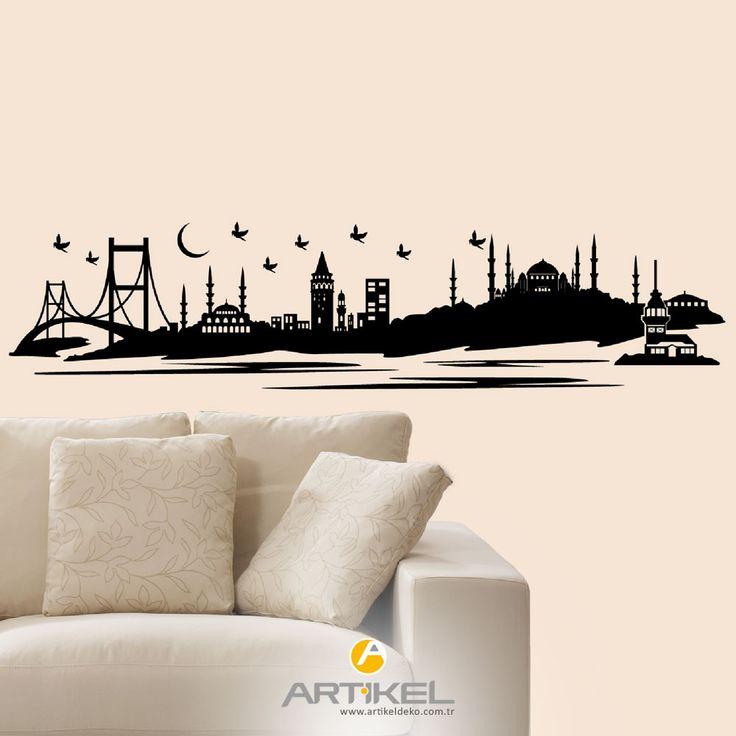 İstanbul' un eşsiz güzelliği artık odanızda... #kadifesticker #art #Istanbul #sticker #artikeldeko #evdekorasyon