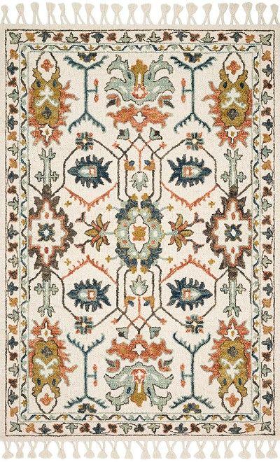 Kasuri KB-05 Ivory/Tuscan Clay Area Rug – Magnolia Home by Joanna Gaines