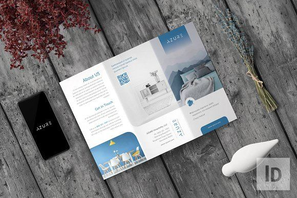 Azure Multipurpose Trifold by fisihsani on @creativemarket A Group