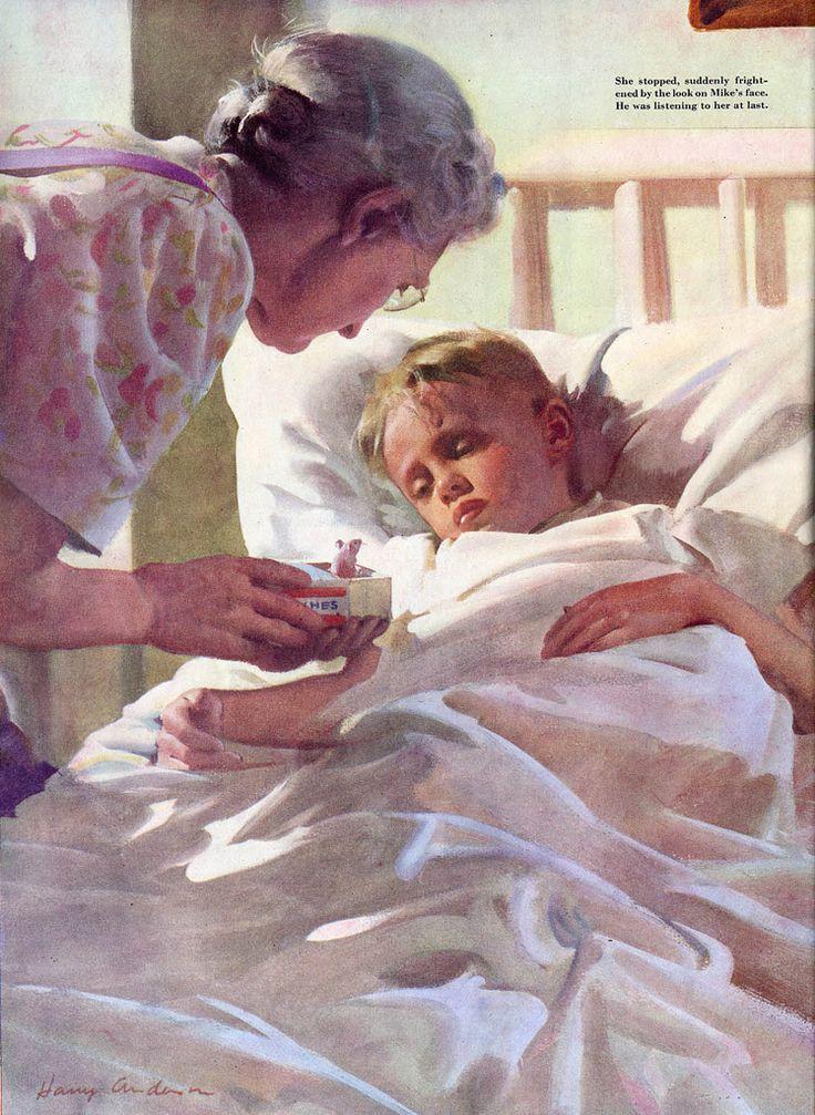 Ladies Home Journal, 1948 // Art by Harold (Harry) Anderson