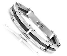 Mens Bracelet in Stainless Steel. http://www.minordetail.com.au/Polished-Stainless-Steel-Bracelet.html