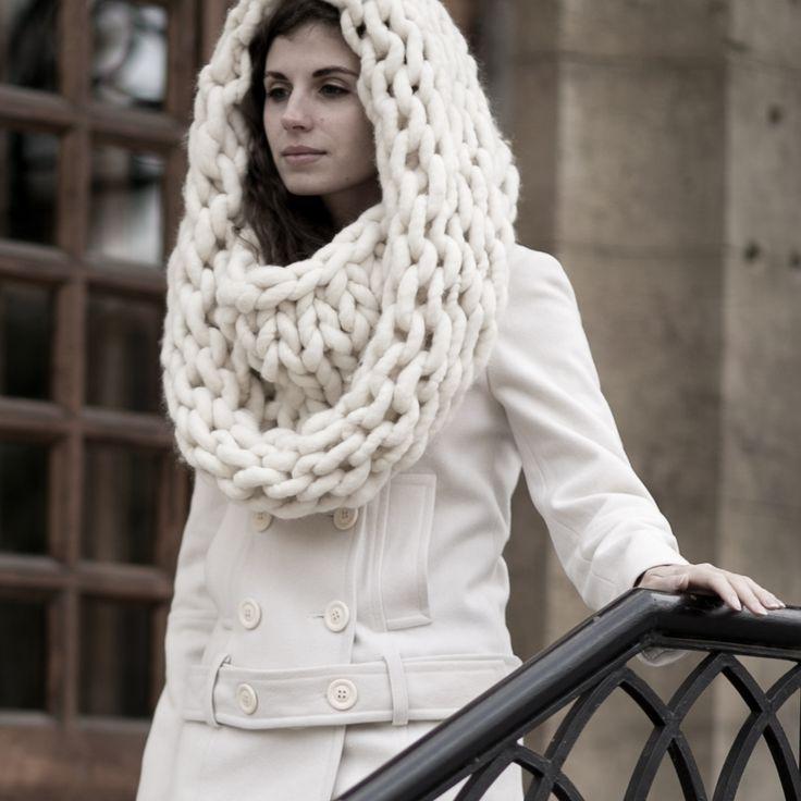 Обьемный снуд из толстой пряжи Loopy Mango #снуд #вязание #вязаныйснуд #мода #стиль #knitting