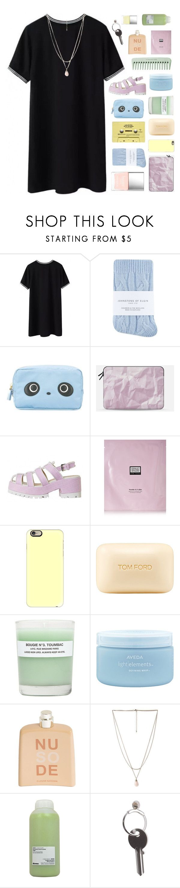 """""""I PROMISED MYSELF I WOULDN'T LET YOU COMPLETE ME"""" by w-anderess ❤ liked on Polyvore featuring Butter London, Johnstons, Anya Hindmarch, Casetify, Erno Laszlo, Tom Ford, A.P.C., Aveda, COSTUME NATIONAL and Forever 21"""