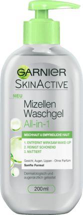Das Garnier SkinActive Mizellen Waschgel Mischhaut & empfindliche Haut zieht Unreinheiten, Talgüberschuss und Make-up an wie ein Magnet. In nur einem...