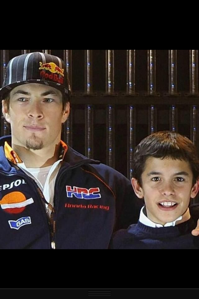 """Hayden and Marquez 2006. Hayden is thinking... """"There's no way this little Spanish kid is going to have My factory ride and then kick MY Ass!"""""""