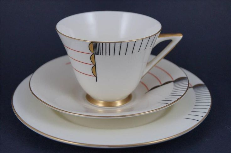 RARE & STUNNING Royal Doulton ART DECO Trio MAGNA Cup, Saucer, Plate 1930s…