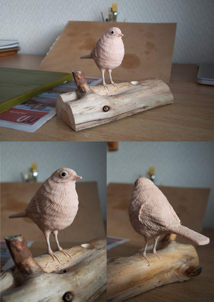 Robin Super Sculpey Sculpture by MWL23.deviantart.com on @deviantART