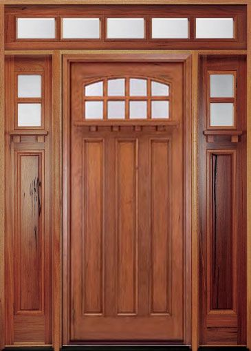 I Like Everything Except The Curved Window....may Want Side Lights And · Craftsman  DoorCraftsman StyleWood Entry ...