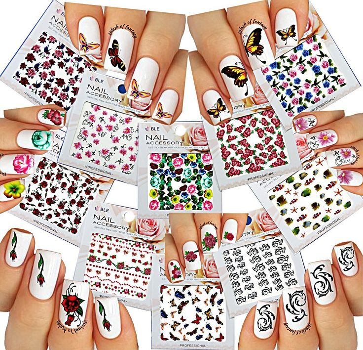 3072 best Nail Decals and Decorations images on Pinterest | Nail ...