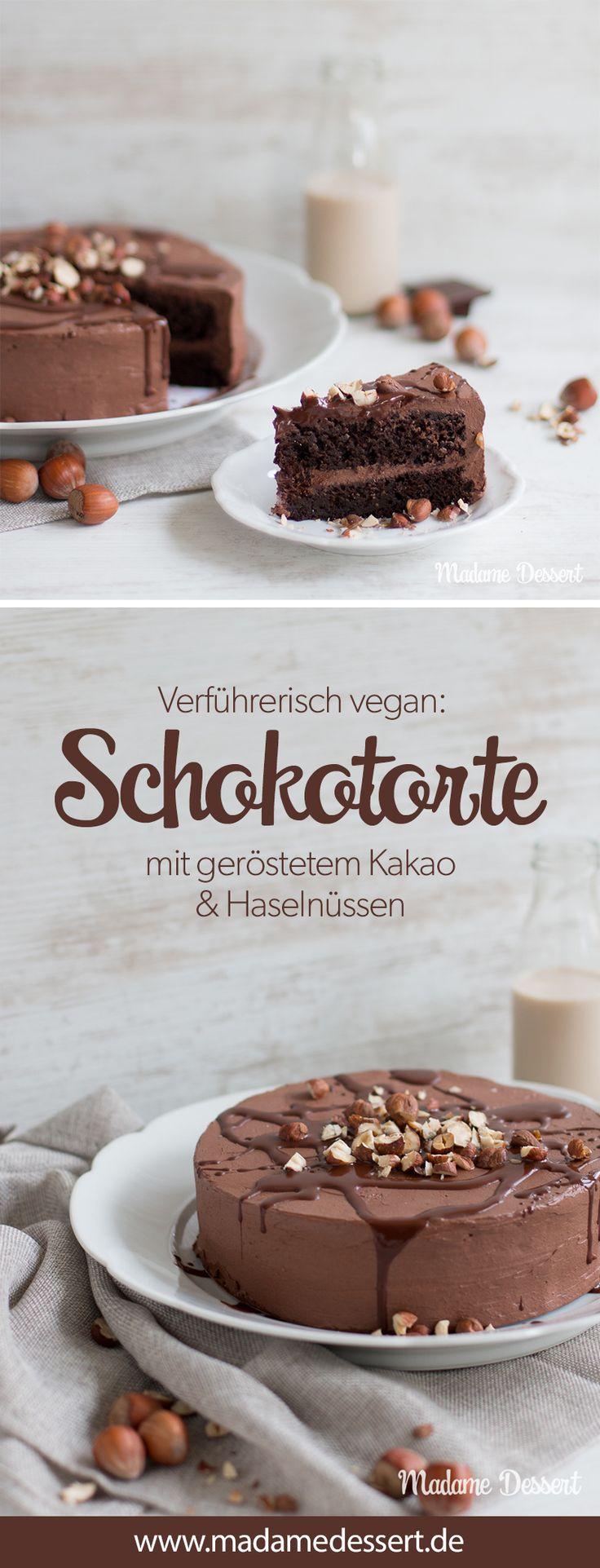 Recette de gâteau au chocolat végétalien avec cacao grillé et noisettes croquantes …   – Madame Dessert – Foodblog |Rezepte auf einen Blick