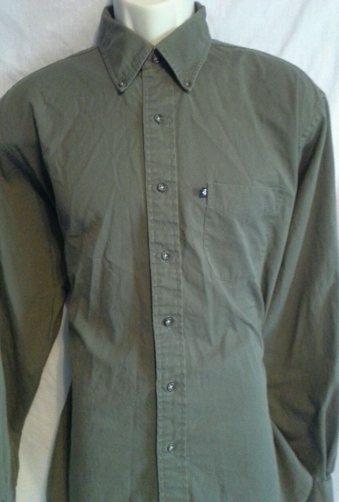 Brooks Brothers: Mens Brown Button Down Long Sleeve Dress Shirt