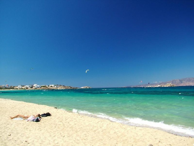 Orkos beach in Naxos - Great spot for kite and wind surf.