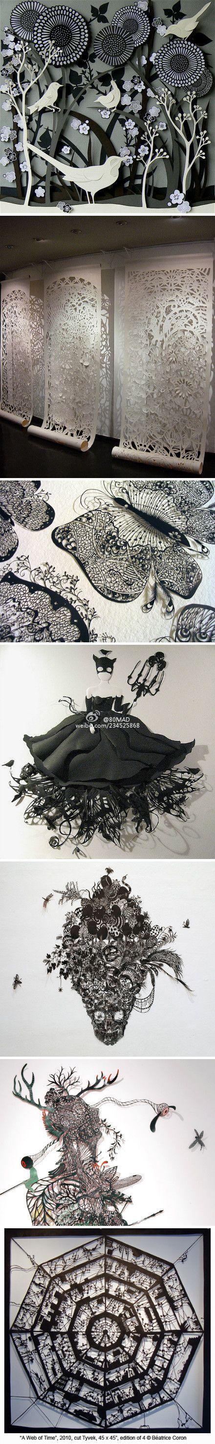 手工 DIY 的 剪纸 设计. ...  Papercuts