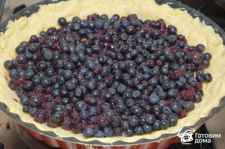 Песочный пирог с черникой фото к рецепту 4
