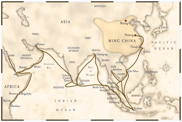 historical map of zheng he - Google Search | 0220 StR ...