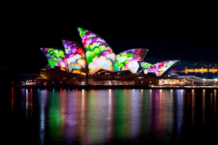 Downtown Sydney Transformed by Light  Vivid Sydney