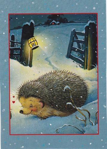 wintery hedgehog :)