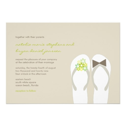 49 Best Flip Flop Wedding Invitations Images On Pinterest Summer