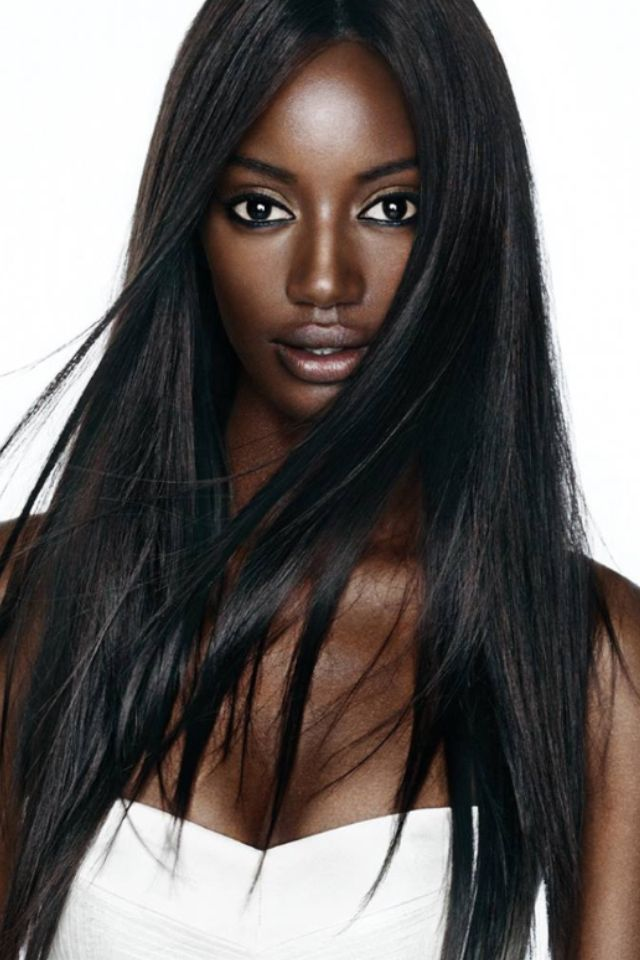 long-black-girls
