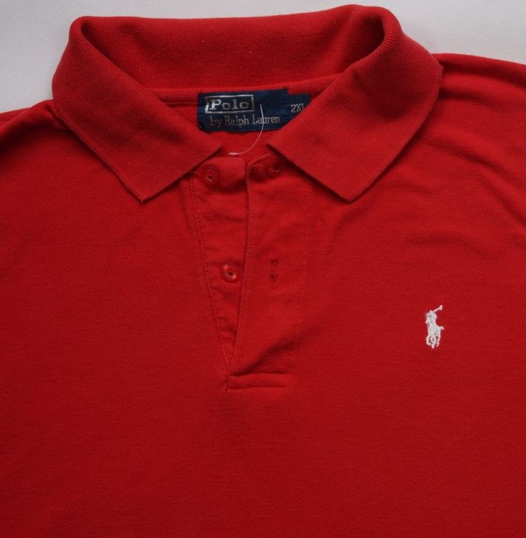 Ralph Lauren Polo Men S Vintage T Shirt Top Size 2xl Red