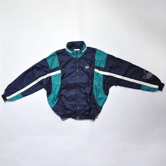 Rare Vintage Adidas Jacket / 80s / 90s Fashion Outfits // Retro Streetwear // Windbreaker // Oldschool // men // women // unisex // Rare Clothing Clothes Items // style // etsy