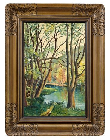 Řeka mezi stromy