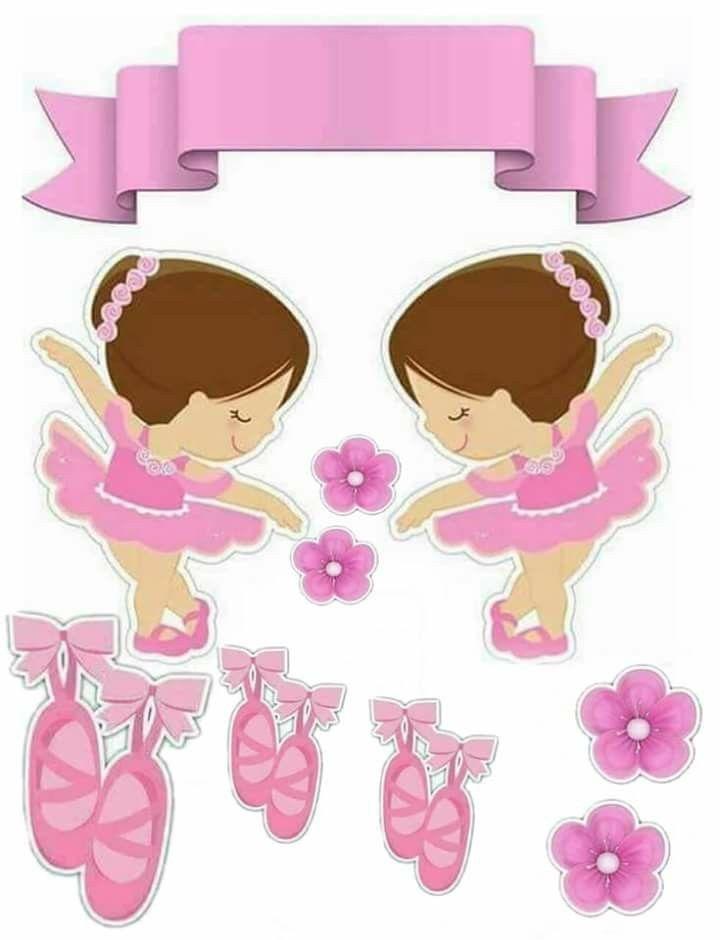 bf6e463ad6 Cha de bebe bailarina Topo De Bolo Bailarina