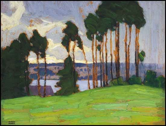 """""""Rainstorm Northern Lake,"""" Lawren Stewart Harris, ca. 1917, oil on panel, 10.7 x 13.7"""", private collection."""