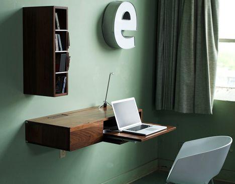 Wall mount desk.
