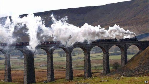 The Ribblehead Viaduct, on the Settle to Carlisle railway.