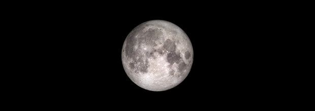 "Tonight's full moon is also called the ""Wolf Moon."" By some definitions it's also a supermoon. (NASA photo)"