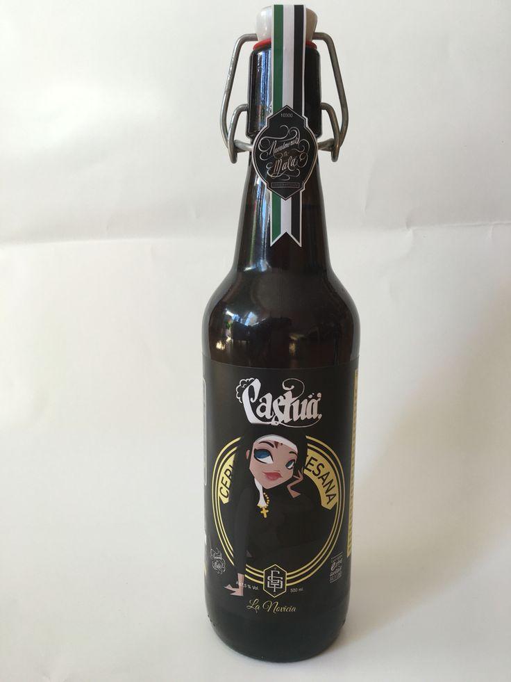 Cerveza Castua, La Novicia 2016. Cervezas de estilo de Abadía, en botella de 50 cl.