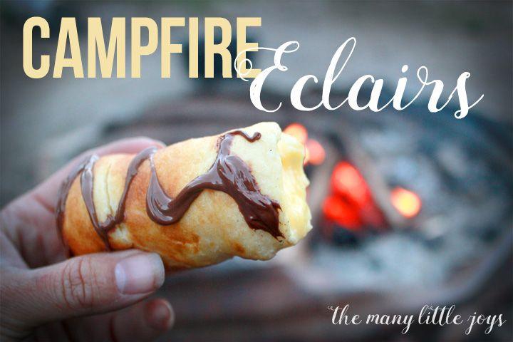 The Best Campfire Dessert EVER: Campfire Eclairs