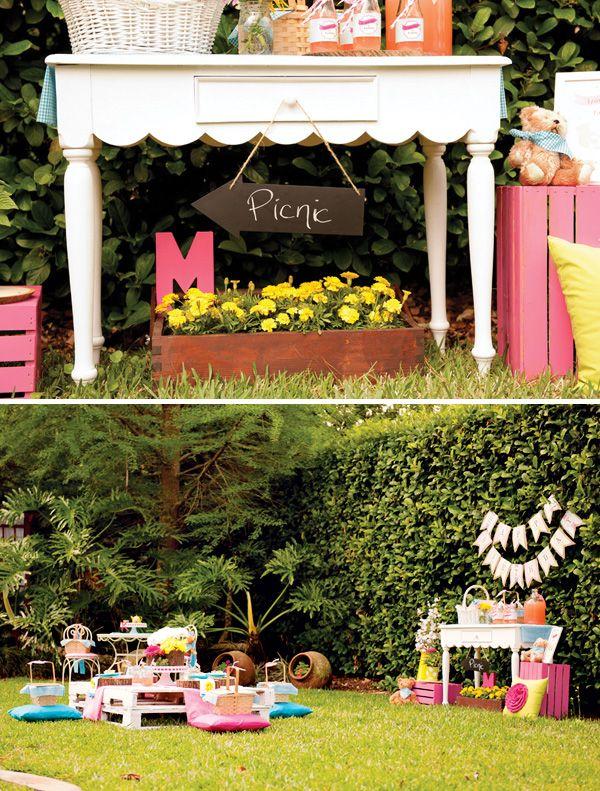 Backyard Teddy Bear Picnic Party {Girls Birthday}