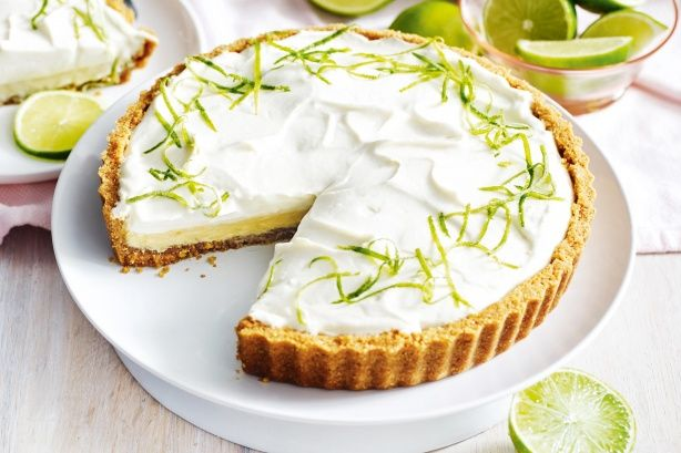 Serve up this traditional American key lime pie topped with whipped coconut cream.