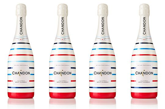 """Chandon """"All‐American Summer"""" Special Edition Bottle: Design Ideas Them, Limited Editing, Packaging Design, American Summer, Sparkle Wine, 4Th Of July, Real Friends, Special Editing, Editing Bottle"""
