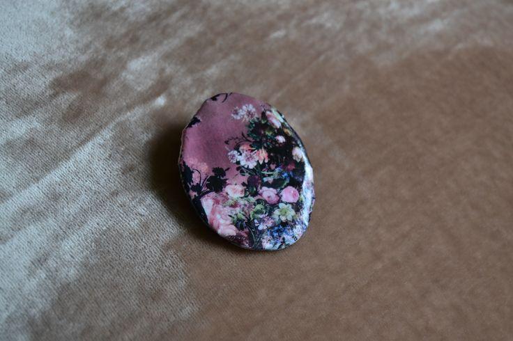 brooch, handmade, flower paper
