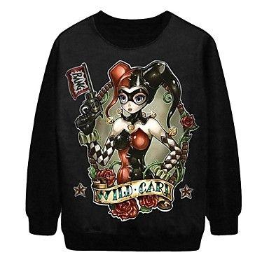 PinkQueen® Women's Wild Card Print Pullover Halloween Sweatshirt - USD $ 21.99
