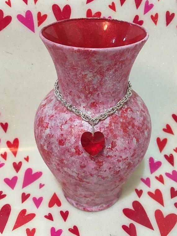 Valentines Vase Decorative Vases Hand Painted Vase Red My Target