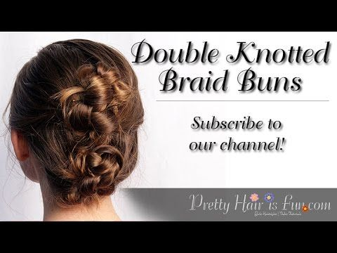 How To: Double Knotted Braid Buns | Pretty Hair is Fun - YouTubeBraid Hairstyles, Braids, braids tutorial, braids for short hair, braids for short hair tutorial, braids for long hair, braids for long hair tutorials... Check more at http://app.cerkos.com/pin/how-to-double-knotted-braid-buns-pretty-hair-is-fun-youtube/