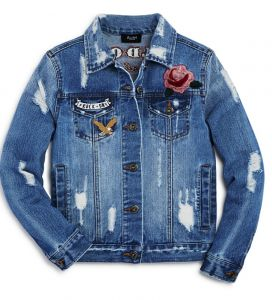 Bardot Junior patched distressed jeans jacket Tween girls clothing