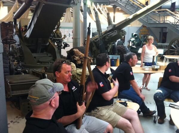 Project Gemini visits the Royal Artillery Firepower Museum in London and the veterans are getting to grips with some of the collection! #BlindVeteransUK #ProjectGemini