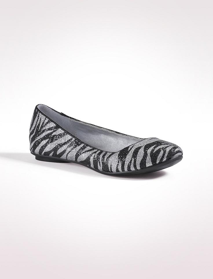 Zebra Print Flat Shoes