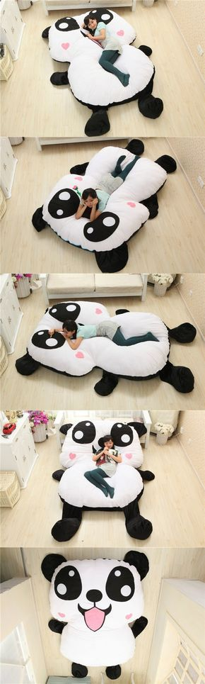 Large Chinese Cartoon Stuffed Plush Animals Panda Style Decorative Pillows Decorate Big Cushion Sleeping Pad Child Bed Mattress