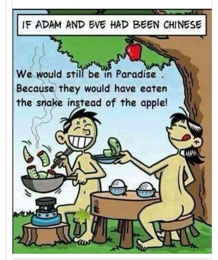 If Adan and Eve had been chinese...