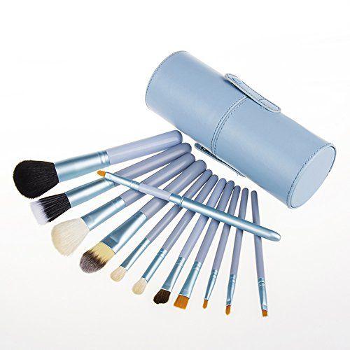Professional 12 PCS Cosmetic Makeup Brush Set With Leather Cup Holder (Red Purple Green Sapphire Black) (Sapphire) Unimeix http://www.amazon.com/dp/B00RBE8YPG/ref=cm_sw_r_pi_dp_-pBvvb1VJ3DPK