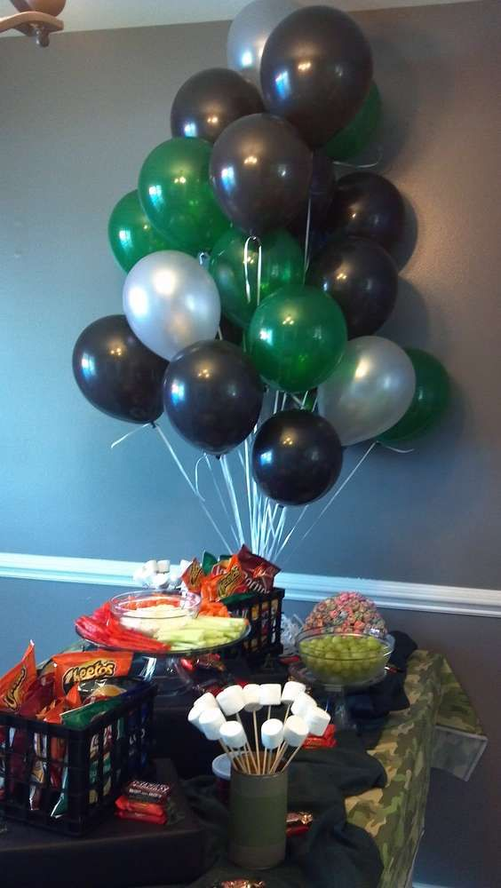 Army/Camouflage Birthday Party Ideas | Photo 8 of 11 | Catch My Party